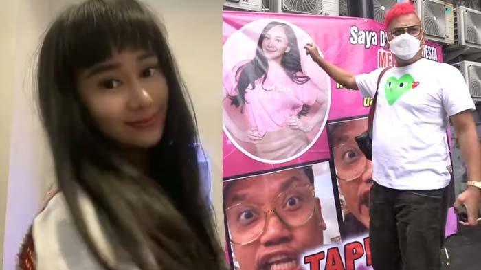 Balas Billboard Rp 100 Juta, Denise Cadel Pajang Foto Ini di Spanduk, Uya Kuya Ngakak: Gak Ada Duit?