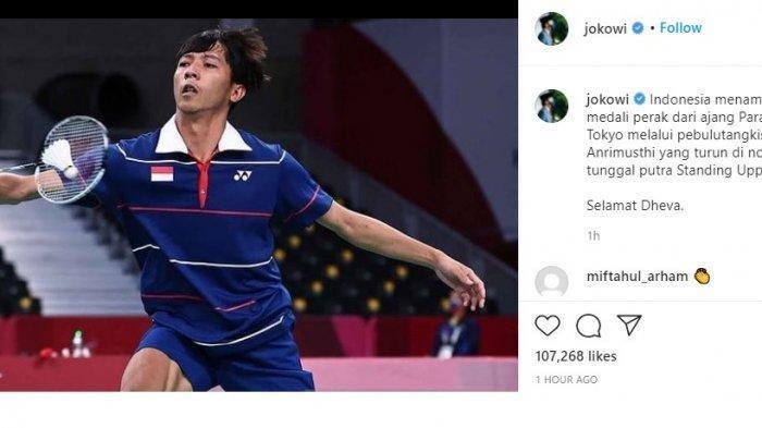 Pebulu Tangkis Dheva Anrimusthi Raih Medali Perak di Paralimpiade Tokyo 2020, Jokowi Beri Selamat