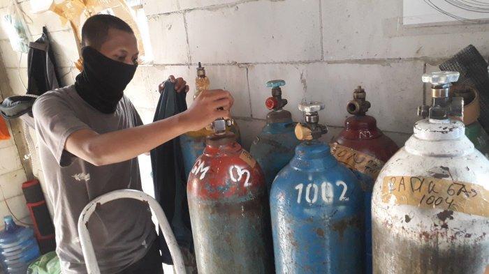 Stok Mulai Sulit Didapat, Penjual Oksigen di Cibinong Bogor Prioritaskan Pembeli Berkebutuhan Medis