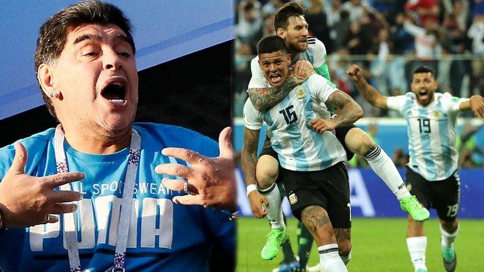 Jadi Penonton Bayaran Rp 188 Juta Per Laga, Begini Ekspresi Maradona Saat Perancis Libas Argentina