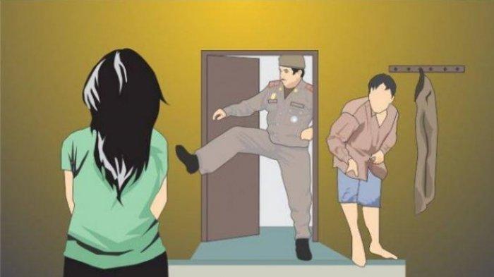 Gerebek Hotel, Polisi Pergoki Istrinya Bercumbu Mesra dengan Sekuriti, Alat Kontrasepsi Berceceran