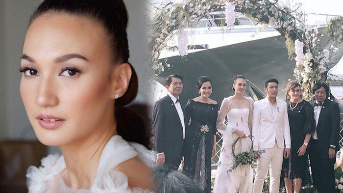Foto-foto Resepsi Pernikahan Dimas dan Nadine di Ancol Jakarta, Pakai Sneakers dan Serba Putih