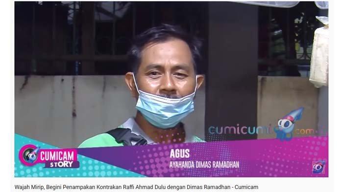 Ayah Dimas Ramadhan, Agus saat diwawancarai.