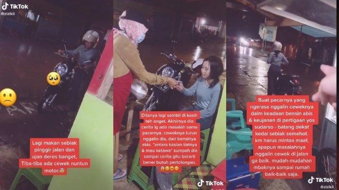 Viral Kisah Perempuan Ditinggal Pacar hingga Dorong Motor karena Habis Bensin, Ini Cerita Sebenarnya