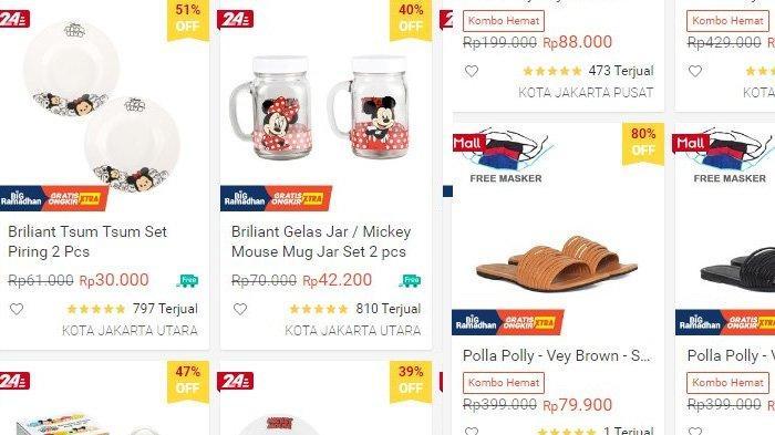 PROMO Diskon hingga 80% Sepatu, Sarung, Kaos hingga Perabotan Rumah, Klik Link Online Shop Di Sini