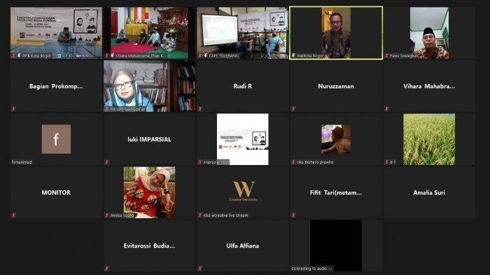 FKUB Kota Bogor, IMPARSIAL (the Indonesian Human Right Monitor) bersama dengan Badan Sosial Lintas Agama (Basolia) dan Forum Muda Lintas Agama (Formula) menggelar Diskusi dengan tema 'Toleransi Masa Pandemi' secara daring, Kamis (29/4/2021) serentak di empat lokasi berbeda.