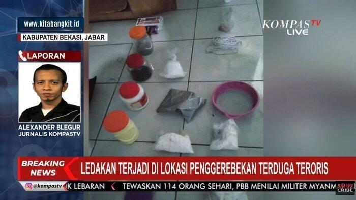 Terdengar Ledakan di Lokasi Penggerebekan Terduga Teroris di Bekasi, Polisi Temukan Barang Bukti Ini