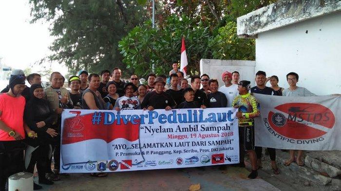 Komunitas Selam IPB Bersama Diver Peduli Laut Lakukan Aksi Bersih Laut di Kepulauan Seribu