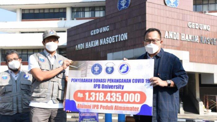 Alhamdulilah, Himpunan Alumni IPB University Donasikan Rp 1,3 Miliar untuk Pengadaan Tabung Oksigen