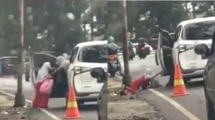 Videonya Tuai Kecaman, Ternyata Ini Alasan Sang Ibu Dorong Putrinya dari Mobil Hingga Tersungkur