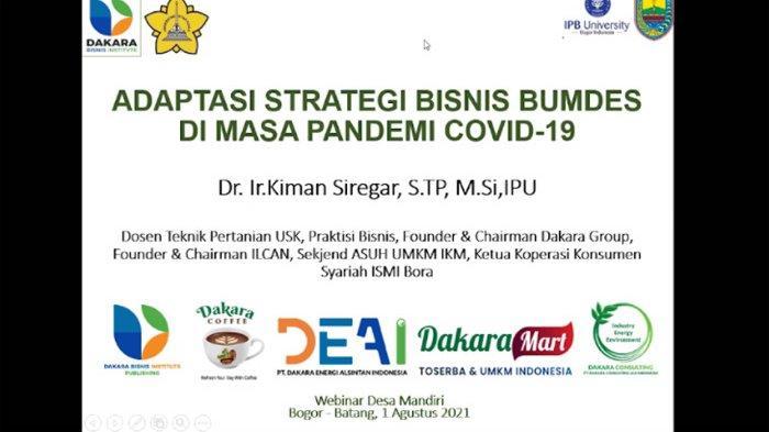 Bahas Strategi Bisnis Bagi BUMDes, Mahasiswa KKNT IPB University Hadirkan Pakar UMKM