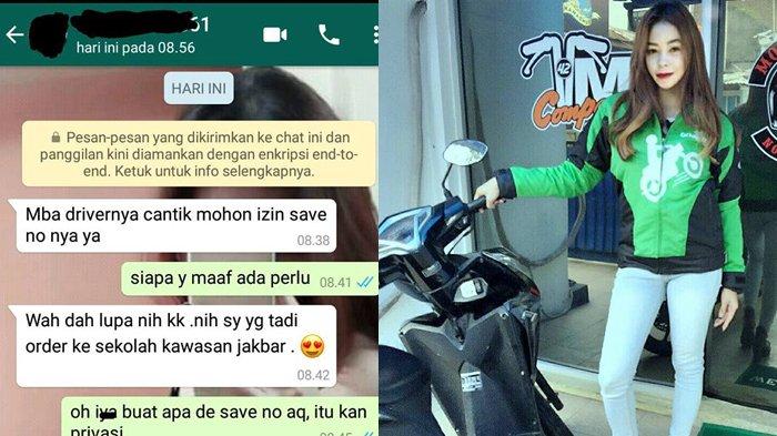 Dapat Modus Dari 'Kids Jaman Now', Balasan Driver Ojek Online Cantik Ini Bikin Pelajar Luluh