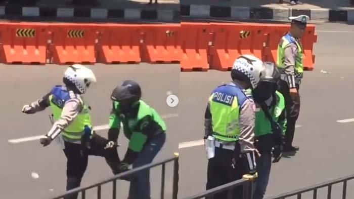 Viral Driver Ojol Ditendang Polisi, Dikasari Meski Sudah Minta Maaf, Kapolresta Bogor Kota Bereaksi