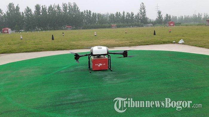 Melihat Proses Pengiriman Barang dari JD.com ke Desa Terpencil di Suqian, Paket Dibawa Pakai Drone