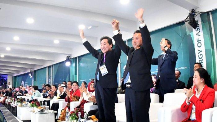 Sejarah Tercipta di Pembukaan Asian Games 2018, Korea Utara dan Korea Selatan Gandengan Tangan