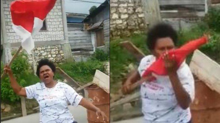Aksi Emak-emak Kibarkan Bendera Indonesia Tolak Rusuh di Fakfak : Kita Orang Merah Putih