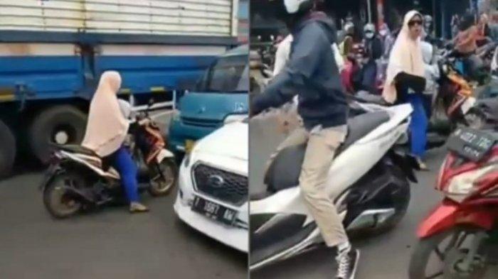 Viral Video Emak-emak Lawan Arus Tembus Kemacetan, Reaksinya Saat Ditegur Jadi Perbincangan