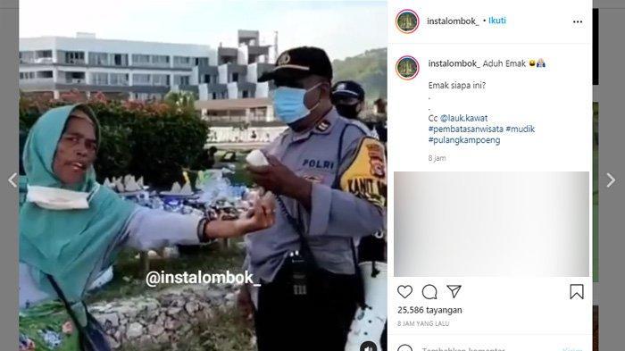 Diusir Petugas, Emak-emak Ini Santai Ngomong Pakai Bahasa Inggris, Respon Polisi Jadi Sorotan