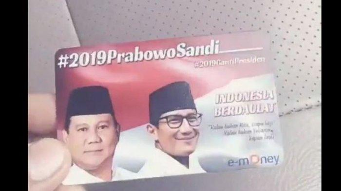 E-Money Bergambar Prabowo-Sandi Beredar, Bank Mandiri : Kami Tidak Memproduksi Seperti Itu