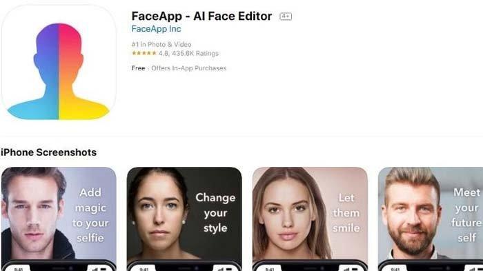 Viral di TikTok FaceApp Bisa Ubah Wajah, Apakah Aman Digunakan ?