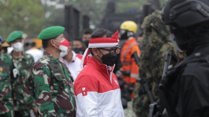 FMP ke-6 ini resmi ditutup secara simbolis dengan ditandai penyerahan pataka dari Ketua Umum Panitia FMP 2021