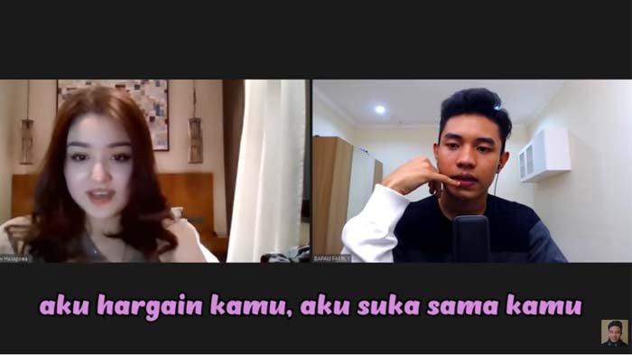 Wanita asal Kazakhstan, Dayana saat berbincang-bincang secara virtual dengan Youtuber asal Indonesia Fiki Naki.