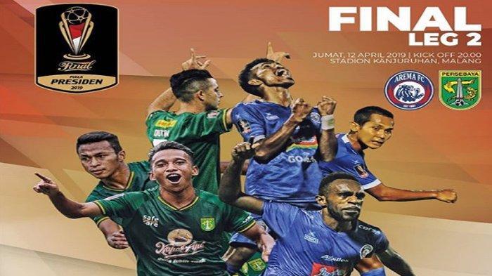 Hasil Arema FC Vs Persebaya Babak Pertama Final Piala Presiden - Singo Edan Unggul 1- 0