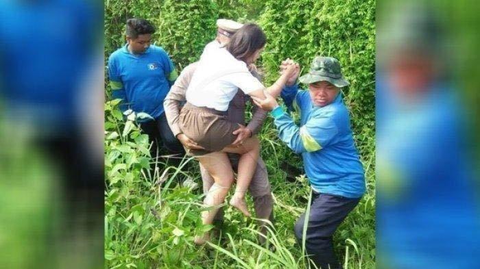 Tolong Wanita Cantik yang Kecelakaan, Polisi Ini Malah Dilarikan ke RS Karena Dihajar Istri