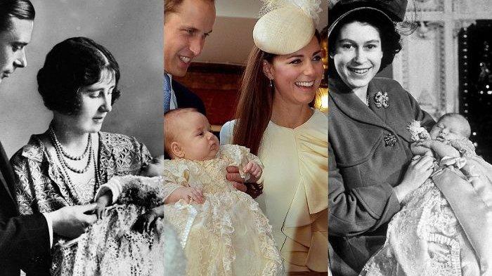 Putra Ke-3 Pangeran William Dibaptis, Ini Foto-foto Pembaptisan Bayi Kerajaan Inggris Tiap Generasi