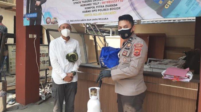 Bersyukur Dapat Pinjaman Oksigen dari Polres Bogor untuk Istri Isoman, Fredi : Alhamdulillah