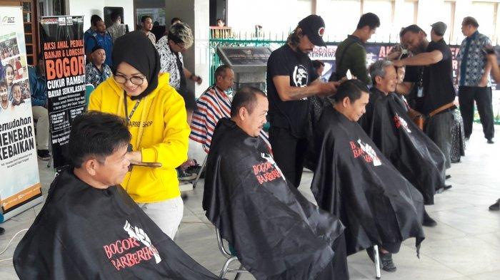 Galang Dana Cukur Rambut Kini Digelar di Cibinong, Hari Pertama Terkumpul Rp 14,2 Juta
