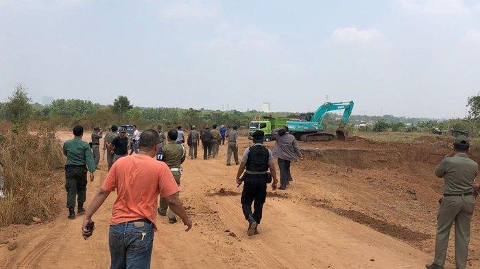 Satpol PP Kabupaten Bogor Segel Galian Tanah Ilegal Di Cileungsi dan Klapanunggal