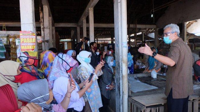 Ada Pedagang Positif Covid-19, Ganjar Pranowo Bakal Tutup 5 Pasar di Temanggung Jateng