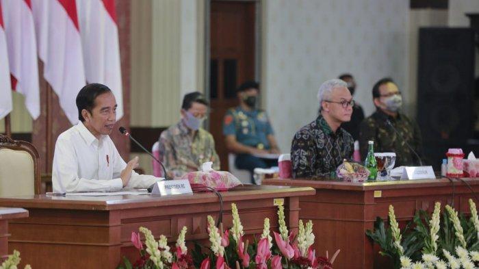 Kunker Jokowi, Ganjar Pranowo Laporkan Penanganan Covid -19 di Jateng, Mulai Orange dan Kuning