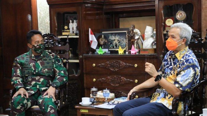 Didatangi Jenderal Andika, Ganjar Pranowo Cerita Lika-liku penanganan Covid-19 di Jateng