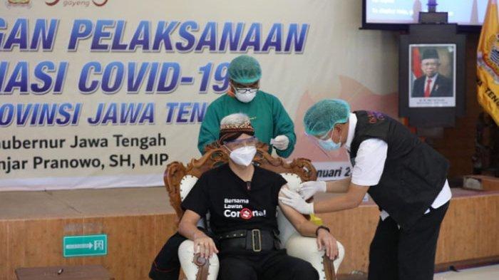 Jadi Orang Pertama yang Disuntik Vaksin Covid-19 di Jateng, Ganjar Pranowo : Seperti Dicokot Semut