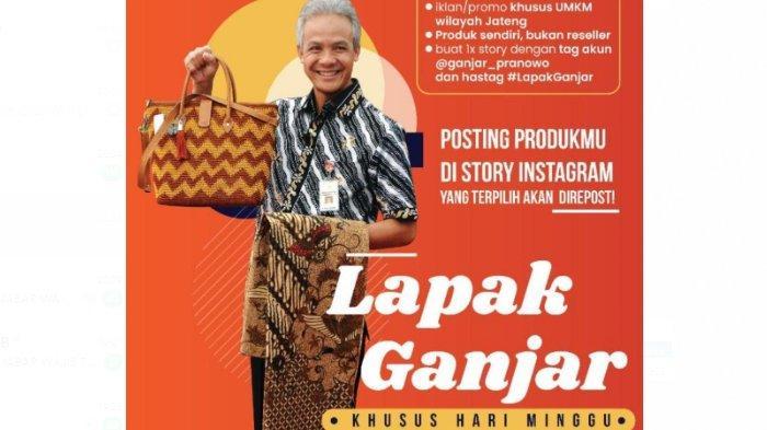 Gubernur Ganjar Pranowo Bantu Promosikan Produk UKM dari Berbagai Daerah Melalui Instagram