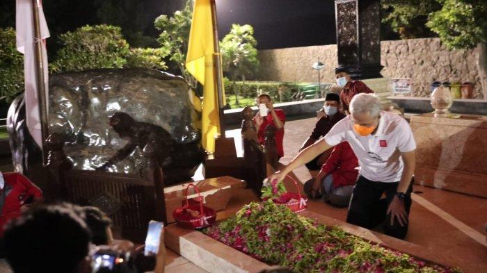 Nyekar di Makam Bung Karno, Ganjar Pranowo Bicara Soal Pentingnya Persatuan