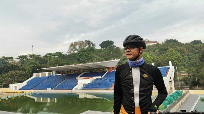 Sambil Gowes, Ganjar Pranowo Ingatkan Pembangunan Venue Olahraga di GOR Jatidiri Selesai Tepat Waktu