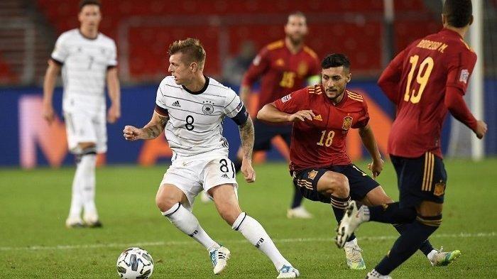 Hasil UEFA Nations League Jerman vs Spanyol - Timo Werner Sukses Getarkan Gawang De Gea