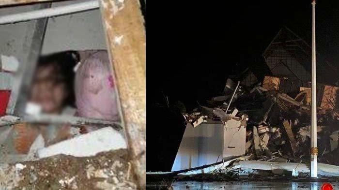 Detik-detik Warga Temukan Korban Gempa Majene Terjebak di Reruntuhan Bangunan : Masih Bernapas Ji ?
