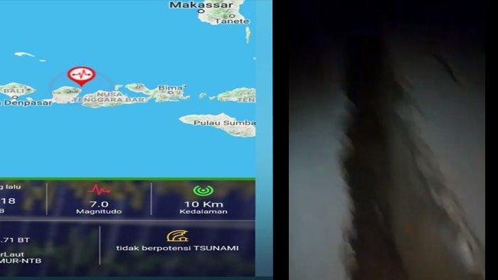 Video Kondisi Jalan Retak di Pelabuhan Kayangan Lombok Utara Akibat Guncangan Gempa di Lombok