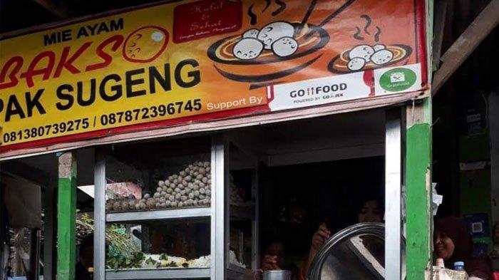 Kedai Bakso Pak Sugeng, Jalan Terapi Raya, Menteng, Kecamatan Bogor Barat, Kota Bogor.