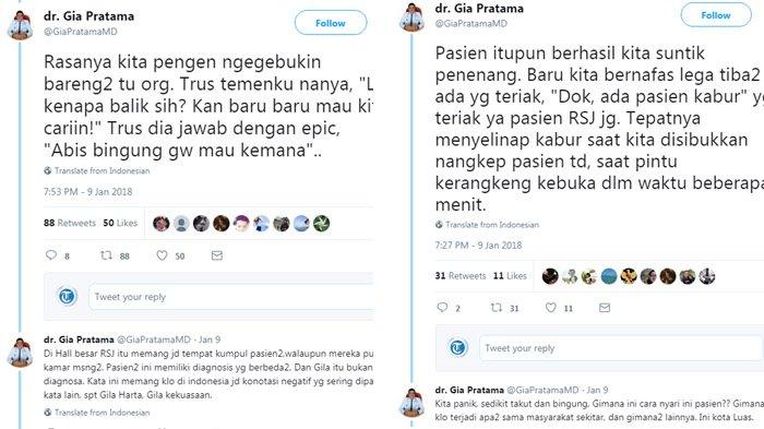 Viral Thread Pengalaman Dokter Koas di RSJ, Cerita Pasien Kabur Bikin Ikutan Kesal