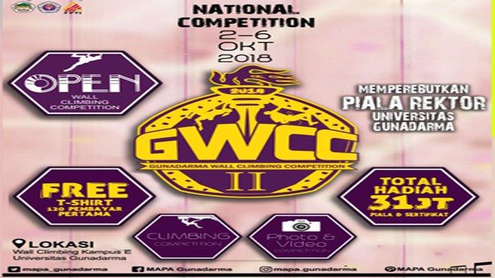 MAPA Gunadarma Gelar Kompetisi Wall Climbing Tingkat Nasional, Pendaftaran Dibuka Mulai 20 Agustus