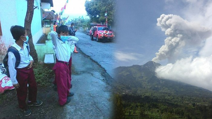 Gunung Merapi Meletus Lagi, Rumah Warga Dihujani Abu Tipis