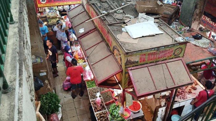 Suasana Pasar Tradisional Cibinong Hari Kedua Lebaran, Beberapa Pedagang Tetap Berjualan