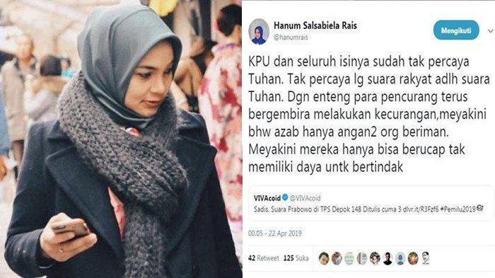 Suara Prabowo di TPS Depok 148 Tapi Ditulis Hanya 3, Anak Amien Rais : KPU Sudah Tak Percaya Tuhan