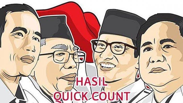 Update Hasil Quick Count 5 Lembaga Survei  Pukul 16.45 WIB, Jokowi-Maruf Amin Vs Prabowo-Sandi