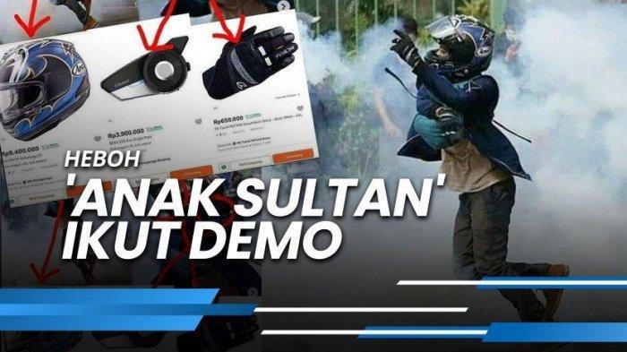 Anak Sultan Nekat Demo Tolak UU Cipta Kerja, Total Outfit Puluhan Juta, Berapa Harga Baju & Celana?